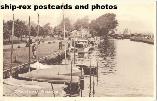 Beccles (Suffolk) The Quay, postcard